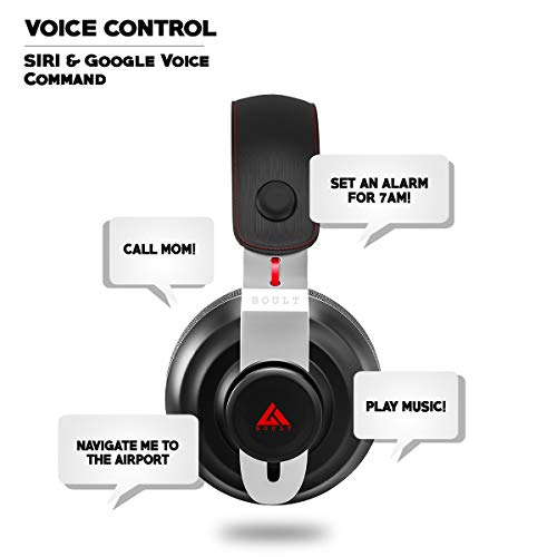 Boult Audio Probass Boost Over-Ear Wireless Bluetooth Headphones with Noise Cancellation and High Bass HD Sound Headset for Gaming with Built-in mic and Wired Mode for Android and iPhone (Black)