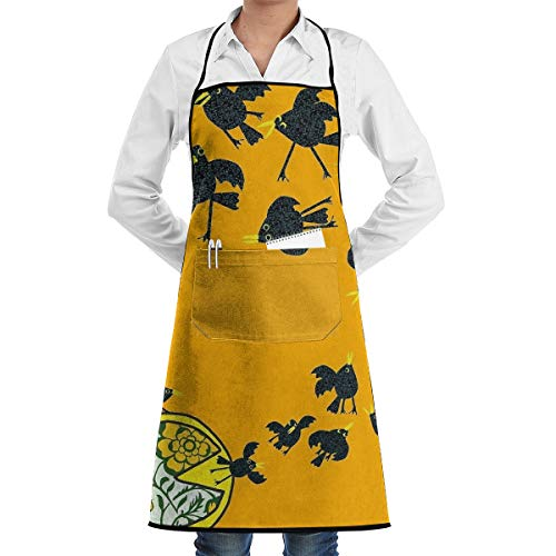 LALACO-Design Baked in A Pie Cooking Women Kicthen Bib Aprons with Pockets for Chef,Grandma Suitable for Baking,Grilling,Painting Even Fit for Arts,Holiday]()