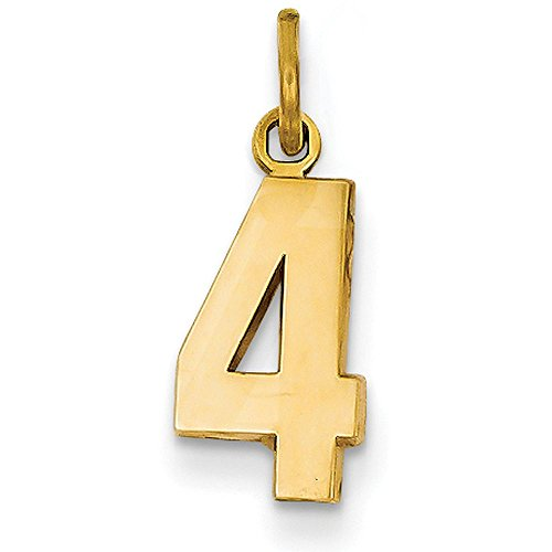 number pendant gold - 9