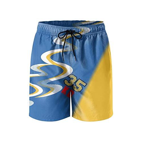 dasndopi Gold Basketball 35Men Beach pantsrunning shortsMini Beach Pants for Men ()