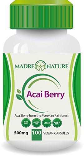 1 Acai Berry (Acai Berry Supplement - 500mg X 100 Capules (Vegan) - Amazon Rainforest - Gluten-free - Non-GMO (1-Pack))