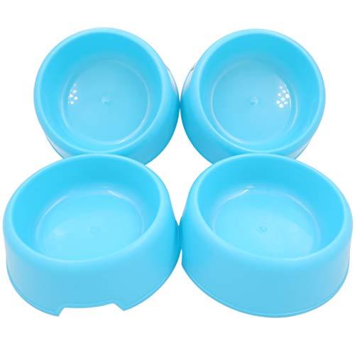 Blue Dog Bowl - Forest Guys Dog Bowls (Blue 4-Pack)