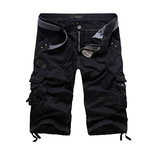 Xudom Cargo Shorts For Women With Pockets Plus Size Cargo Pants Black US 8