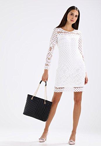 Anna Field Shopper Tasche für Damen mit elegantem Kettenhenkel - Schultertasche zum Umhängen mit edler Steppung - Umhängetasche ca. 27,5x39,5x13 cm Schwarz