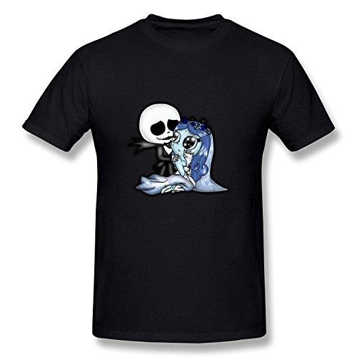 WunoD Men's Tim Burton Corpse Bride T-shirt Size XXL (First Patriots Tee T-shirt)