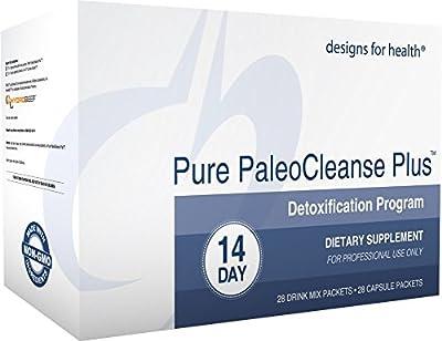 Designs for Health - Pure PaleoCleanse Plus 14 Day Detox Program - Bone Broth Protein + Green Tea + Alkalizing Vegetables for Liver Support, 28 Packs