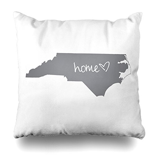ONELZ Home North Carolina Square Decorative Throw Pillow Case, Fashion Style Zippered Cushion Pillow Cover £¨18 x 18 inch£