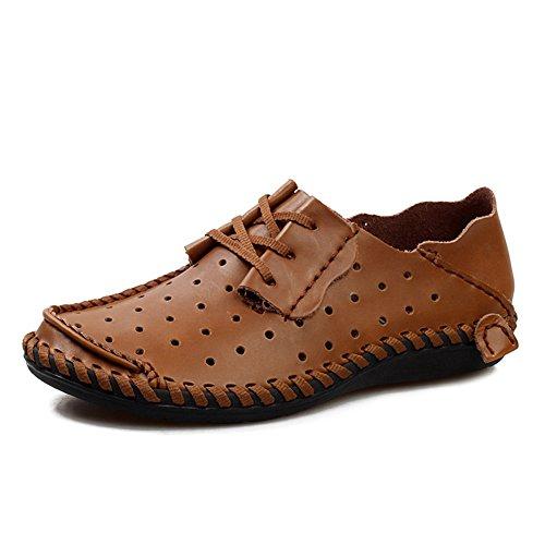 Eleganti 46 Marrone Sneaker Size da Fashion Mocassini 49 Chiaro 47 da Uomo per Classic 48 Scarpe Scarpe da Passeggio Mocassini Scarpe Slipper Casual ZqxT1T