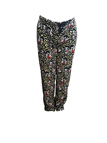 Betty Boop Women's Sleepwear Plush Fleece Lounge Pajama Sleep Pants S To XL (Leopard, M) (Lounge Leopard Pants)