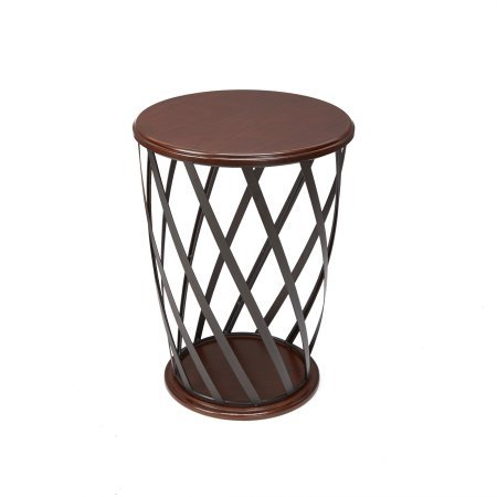 Better Homes and Gardens Industrial Cage Metal and Wood Accent Table