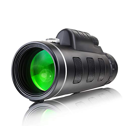 Rowphya Monoculars for Adults High-Definition Waterproof with Smartphone Holder and Tripod for Bird Watching Camping Hiking