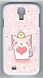 Samsung Galaxy S4 I9500 White Hard Case - Lovely Pink Kitten Galaxy S4 Cases