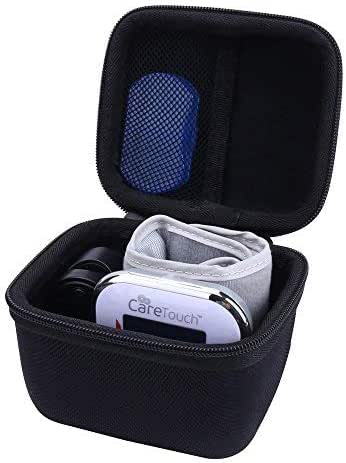 Storage Organizer Hard Travel Case for Care Touch BP Wrist Blood Pressure Monitor Cuff by Aenllosi (Black)