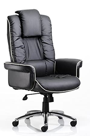 CHELSEA BLACK BONDED LEATHER EXECUTIVE ARMCHAIR: Amazon.co.uk: Office  Products