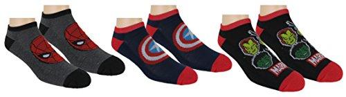 Marvel-Avengers-Mens-3pk-Half-Cushion-Athletic-No-Show-Socks