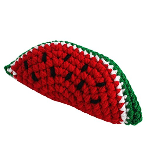 SUKEQ Cute Newborn Baby Crochet Knit Fruit Vegetables DIY Photography Prop Photo for 0-6 Month Kids (Watermelon)