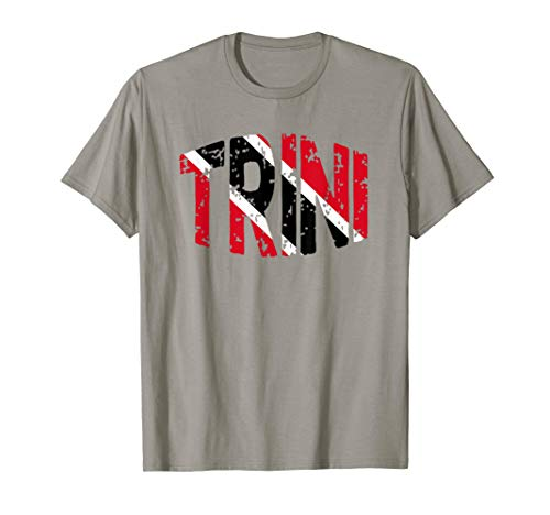 Trini Trinidad Tobago Flag Trinidadian Men Women Kids T-Shirt