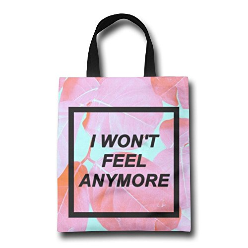 I Won't Feel Anymore Reusable Shopping Bag, For Farmers Markets, Grocery Shopping, Crafts, Travel, Sewing & Everyday Use (Synonym For Merchandise)