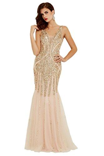 Ivydressing Lage Damen Abendkleid Promkleid Ballkleid K Partykleid Auf Hochwertig der Festkleid O6OgwrqI