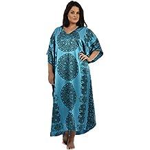 Up2date Fashion Women's Satin Mandala Print Caftan, One Size, Style Caf-95C2