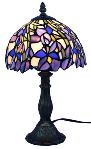 Amora Lighting AM1076TL08 Tiffany Style Iris Mini Table Lamp - 15