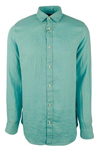 - Michael Kors Men's Long Sleeve Tailored Linen Shirt-LL-XXL