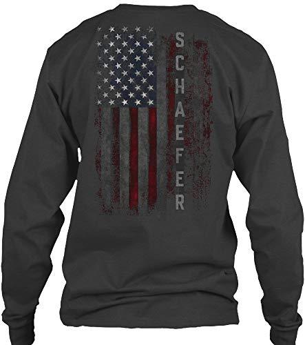 Schaefer L - Dark Heather Long Sleeve Tshirt - Gildan 6.1oz Long Sleeve Tee