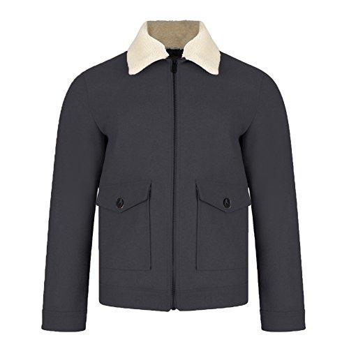 sintético de chaqueta hombre Belgrave aviador de Navy Threadbare con invierno abrigo Blue tóner de Borg ante forro Para dzxf0npq0