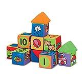"Melissa & Doug Match & Build Soft Blocks, Developmental Toys, Multiple Activities, Lightweight Pieces, Develops Multiple Skills, 17 Pieces, 16"" H x 10"" W x 4"" L"