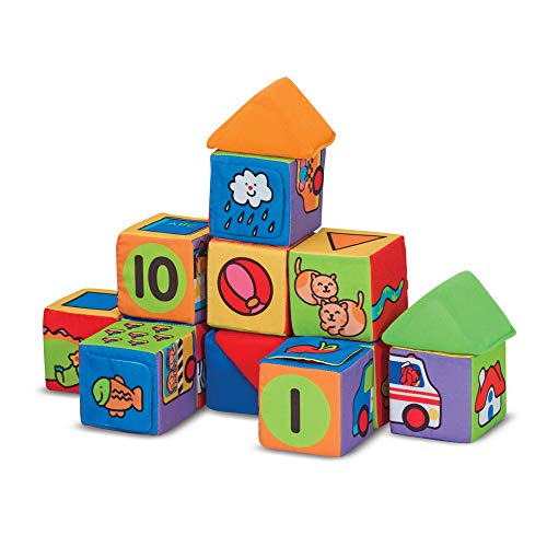 Melissa & Doug Match & Build Soft Blocks, Developmental...