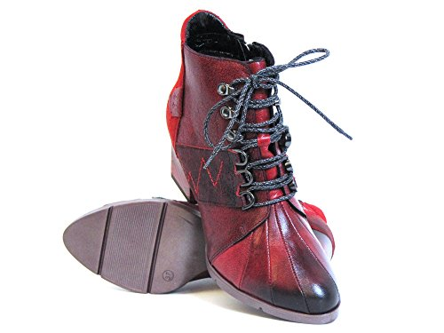 00 red 08 Ankle 3 Maciejka Kombi Rot Women 03097 rot kombi Boots ZHwn8Bxp