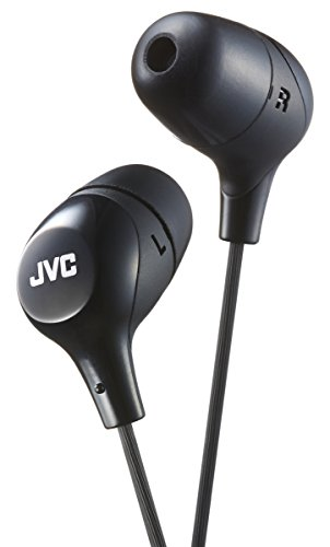 JVC Marshmallow In-Ear Headphones Tangle Free Earphones with Memory Foam Earbuds...