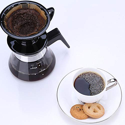 SYY-US Coffee Pot Set Ceramic Filter Cup with Glass Pot Household Hand Coffee Pot Teapot Multi-Function Drip Type Thin Mouth Pot with Handle by SYY-US (Image #5)