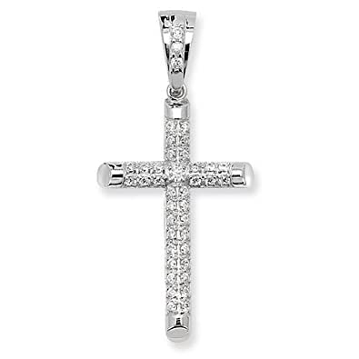 925 sterling silver genuine large cz cross pendant 25mm40mm 630gr 925 sterling silver genuine large cz cross pendant 25mm40mm 630gr free uk post mozeypictures Choice Image