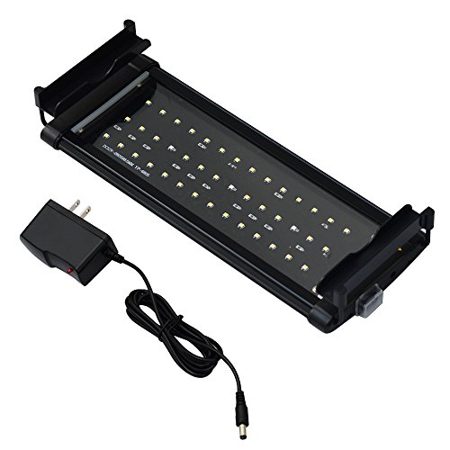 Honpal LED Aquarium Light with Extendable Brackets, White and Blue LEDs,Fish Tank Light for Fresh Water and Salt Water(11-19 Inch).