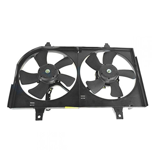 Radiator Dual Cooling Fan & Motor Assembly for Nissan Maxima Infiniti I35 ()