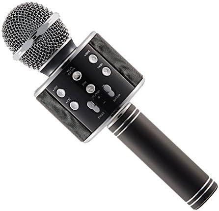 or rose Microphone KTV professionnel WS-858 portable sans fil karaok/é micro maison micro haut-parleur lecteur microphones