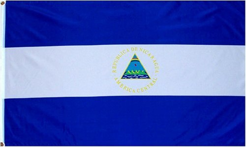 Nicaragua National Country Flag - 3 foot by 5 foot Polyester (New)