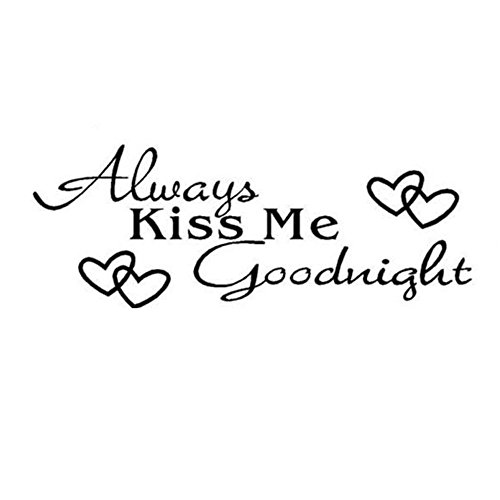 Wall Sticker, Mikey Store Always Kiss Me Goodnight Decal Bedroom Art Home Decor