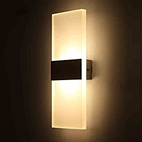 Outreo 6W LED Wall Sconces Light Fixture Acrylic Decorative Lamp for Bedroom, Living Room, Balcony, corridor, Warm White