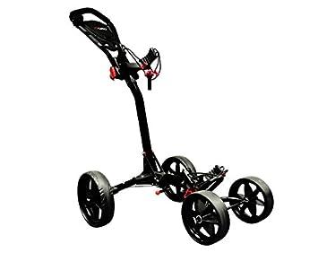Ezeglide Compact Quad - Carrito de golf de mano con ruedas, color negro, talla n/a: Amazon.es: Deportes y aire libre