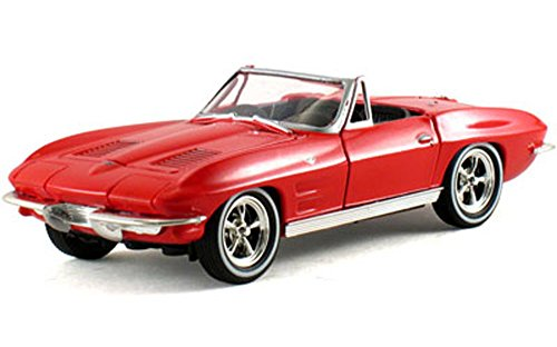 Signature Models 1963 Chevy Corvette Convertible, Red 32435 - 1/32 Scale Diecast Model Toy Car ()
