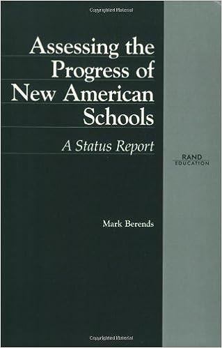 Assessing the Progress of New American Schools: A Status Report