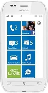 """Nokia Lumia 710 - Smartphone libre (pantalla táctil de 3,7"""" 800 x 480, cámara 5 MP, procesador de 1.4 GHz, S.O. Windows), blanco [importado de Alemania]"""
