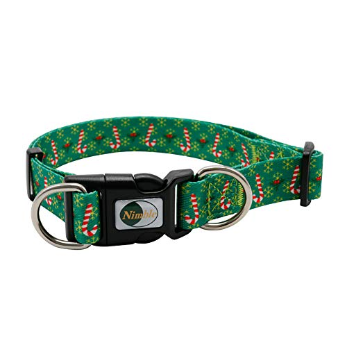 NIMBLE Christmas Dog Collar Adjustable Soft Comfortable 8 Patterns Holiday Dog Collars for Small Medium and Large Dogs
