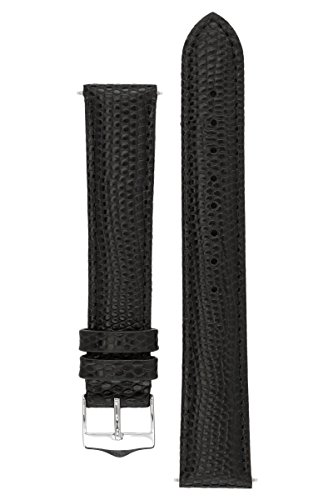 signature-dragon-in-black-22-mm-extra-long-watch-band-replacement-watch-strap-genuine-leather-silver