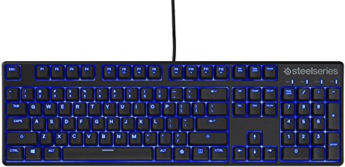 SteelSeries Apex M500 Illuminated Mechanical Gaming Keyboard - Cherry MX Red Switch - Blue LED Backlit - Media Controls - Steel Back Plate