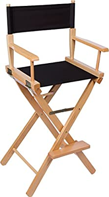 "30"" Bar Height Director's Chair - By Trademark Innovations (Black)"