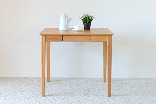 ISSEIKI ダイニングテーブル 幅80cm 2人用 ナチュラル チェアなし 木製 ERIS PLUS DINING TABLE 80 (NA) B01H3BUPC6