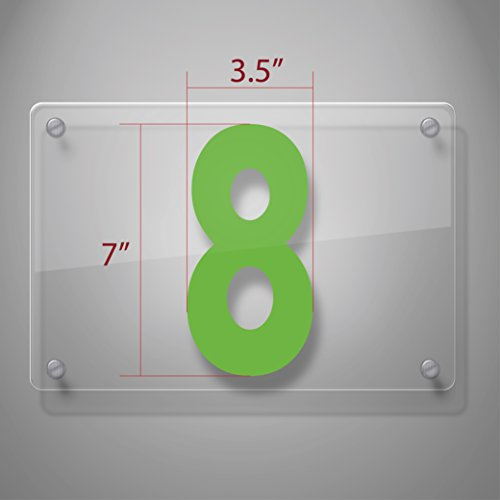 Number 8 Decal (Vehicle Windshield Number Decal Stickers 999 (7